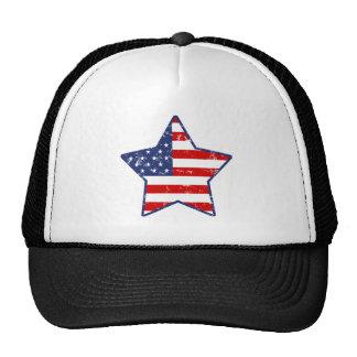 Estrella patriótica gorras