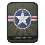 Estrella patriótica militar del vintage fundas para iPads