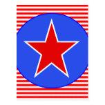 estrella patriótica postal