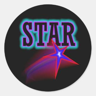 Estrella Pegatina Redonda