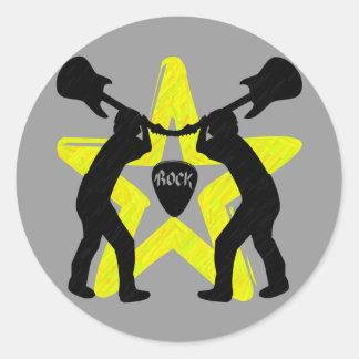 Estrella-Pegatinas de la roca Pegatina Redonda