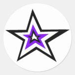 estrella pegatinas redondas
