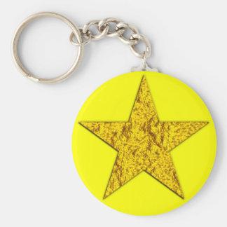 Estrella (pepita de oro) llavero redondo tipo pin