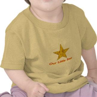 Estrella pepita de oro camisetas