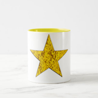 Estrella pepita de oro taza de café