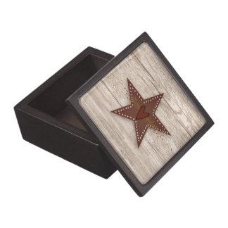 Estrella perforada de la lata caja de regalo de calidad