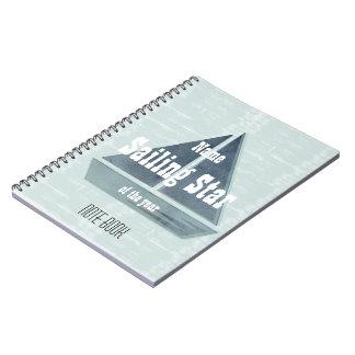 Estrella personalizada de la navegación del spiral notebook