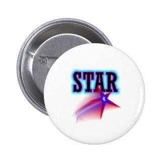 Estrella Pin Redondo De 2 Pulgadas