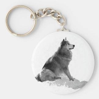 Estrella polar el perro esquimal llavero redondo tipo pin