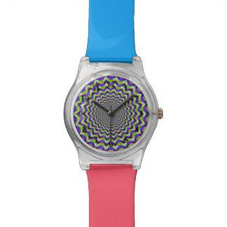 Estrella psicodélica tejida reloj