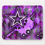 Estrella púrpura alfombrillas de ratones