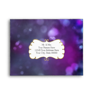 Estrella púrpura azul del brillo del oro de Bokeh