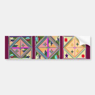 Estrella púrpura de NOVINO - serie del arte curati Pegatina De Parachoque