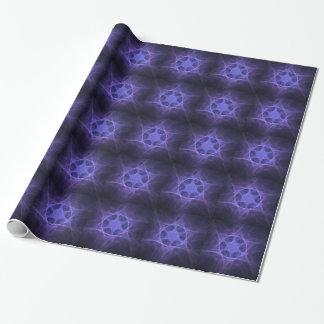 Estrella púrpura del fractal de David Papel De Regalo