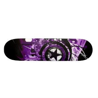 Estrella púrpura del grunge tablas de patinar