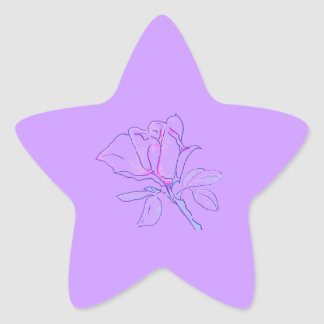 Estrella púrpura del rosa calcomanías forma de estrellas