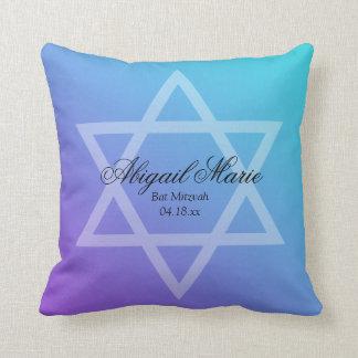 Estrella púrpura del trullo del palo Mitzvah de Cojín