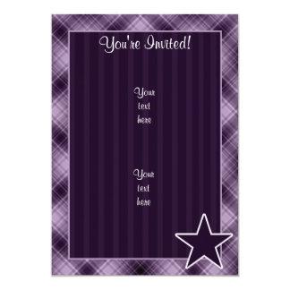 "Estrella púrpura invitación 5"" x 7"""