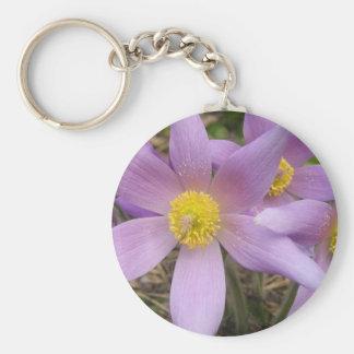 Estrella púrpura llavero redondo tipo pin