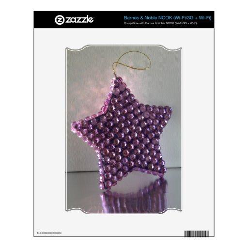 Estrella púrpura NOOK calcomanía