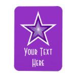 Estrella púrpura púrpura vertical del imán flexibl