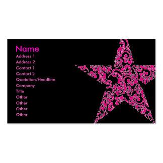 estrella púrpura tarjetas de visita