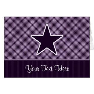 Estrella púrpura tarjeta de felicitación