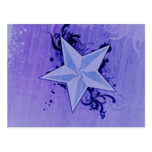 Estrella púrpura:) tarjetas postales
