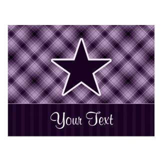 Estrella púrpura tarjetas postales
