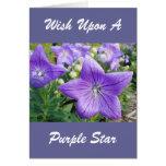 Estrella púrpura tarjeton