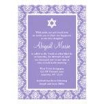 Estrella púrpura y blanca del damasco del palo Mit Invitacion Personal