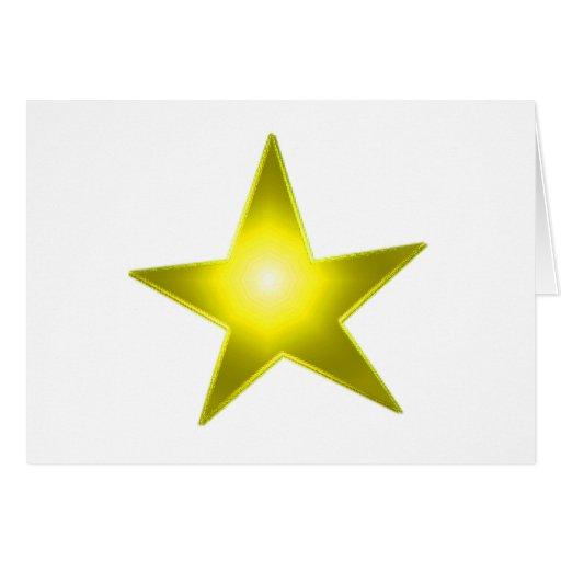 Estrella que brilla intensamente tarjeta de felicitación