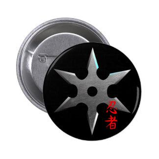 Estrella que lanza de Ninja Pin Redondo De 2 Pulgadas
