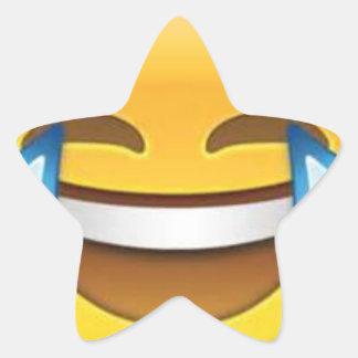 Estrella que ríe Emoji Pegatina En Forma De Estrella