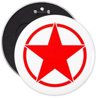 Estrella quebrada 3 del círculo pin redondo de 6 pulgadas