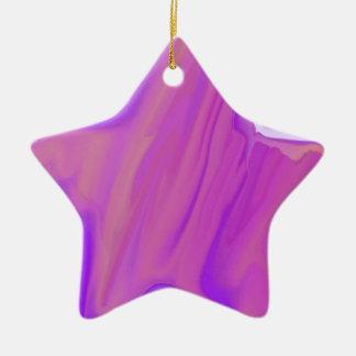 Estrella real adorno navideño de cerámica en forma de estrella