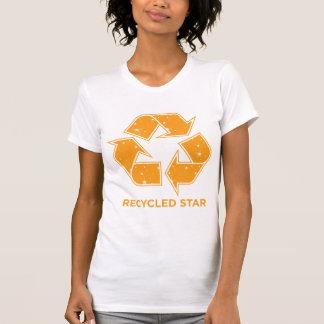 Estrella reciclada camiseta