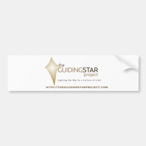 Estrella rectora etiqueta de parachoque