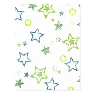 Estrella retra postal
