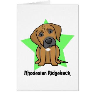 Estrella Rhodesian Ridgeback de Kawaii Tarjeta De Felicitación