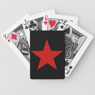 Estrella roja barajas de cartas