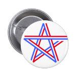 Estrella roja, blanca y azul pin