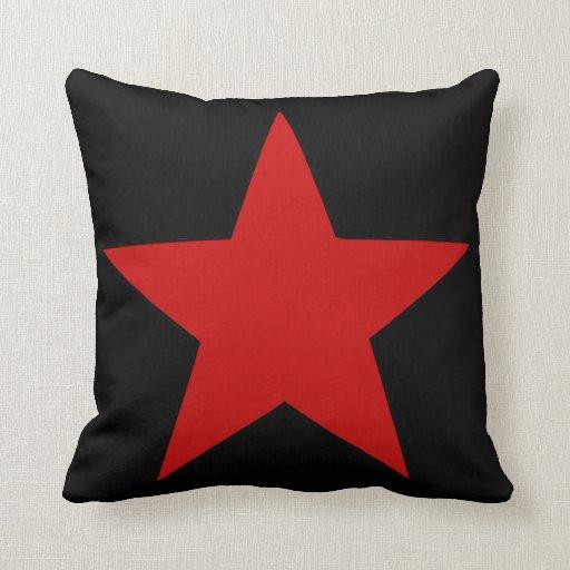 Estrella roja cojines