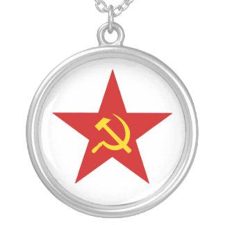 Estrella roja colgante redondo