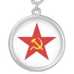 Estrella roja collar personalizado