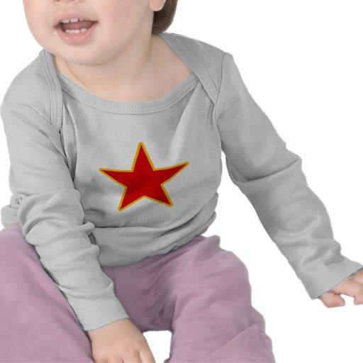 Estrella roja comunista camiseta