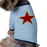 Estrella roja comunista ropa para mascota