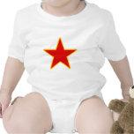 Estrella roja comunista traje de bebé