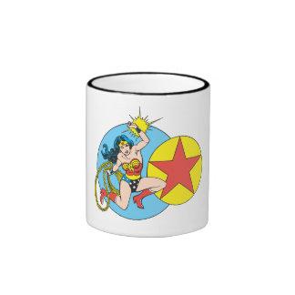 Estrella roja de la Mujer Maravilla Tazas De Café