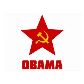 Estrella roja de Obama Tarjetas Postales